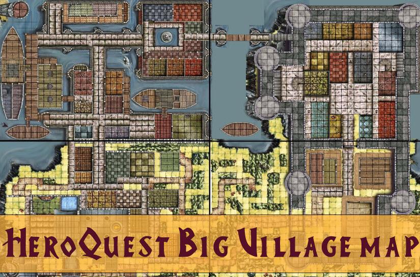 Heroquest Big Village Map