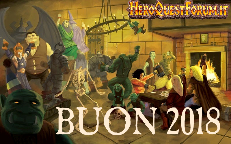 Auguri di Buon 2018 a tutti gli heroquesters del mondo!