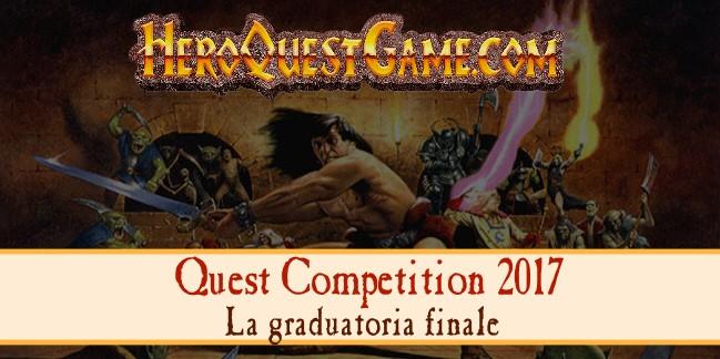 Quest Competition 2017: graduatoria finale