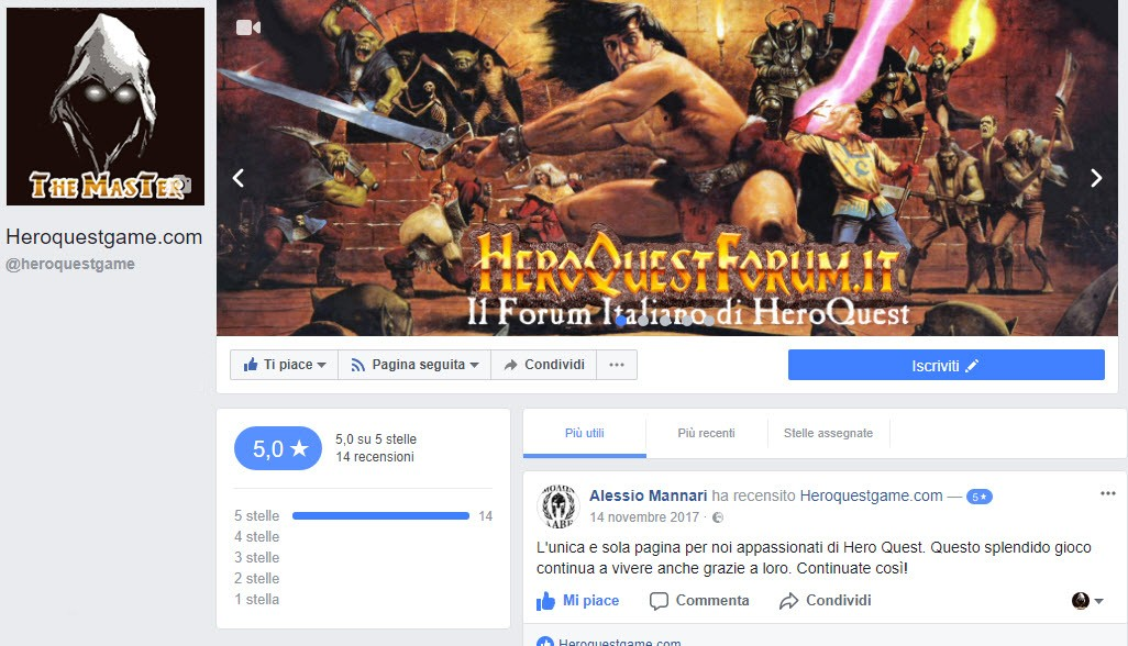 Heroquestgame e Facebook