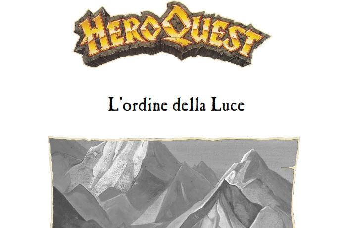 L'ordine della luce: un nuovo questpack per HeroQuest